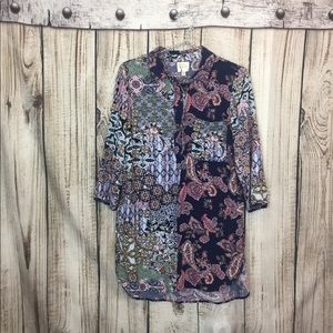 Anthropologie Tops - Anthropologie Fig & Flower  Tunic Top Medium